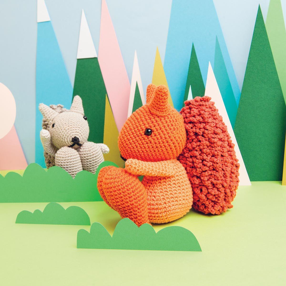 Kit crochet amigurumi - Ecureuil