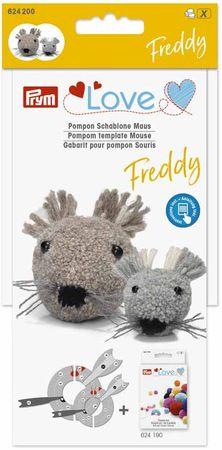 Gabarit pour pompons - Souris Freddy