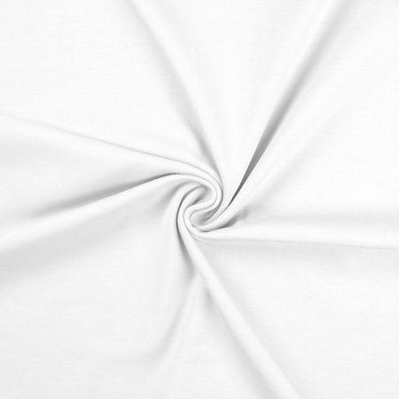 Tissu jersey coton - Blanc