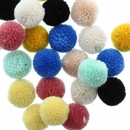 Set de 24 pompons en laine - Nature
