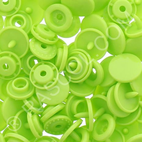 Sachet de 25 pressions résine KAM ronds - Vert pomme