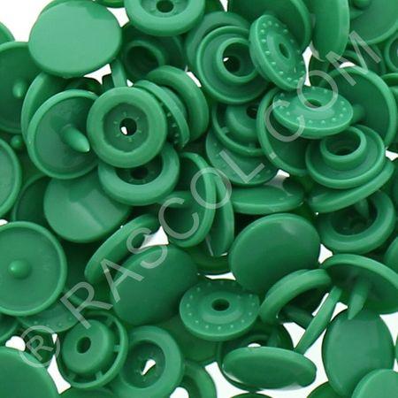 Sachet de 25 pressions résine KAM ronds - Vert émeraude