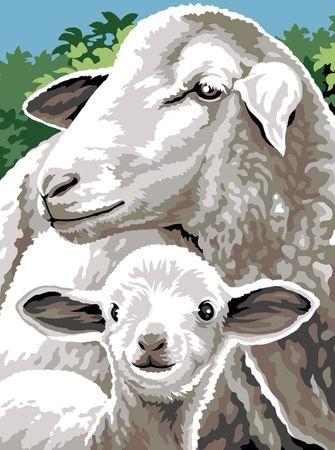 Kit canevas pénélope Margot de Paris - Mouton