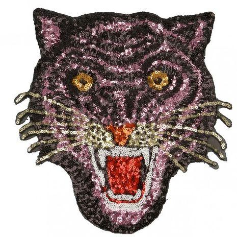 Motif sequin maxi tigre - Rose