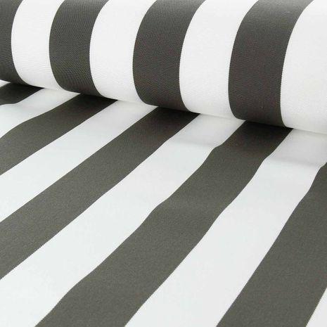 Toile transat - Blanc et taupe