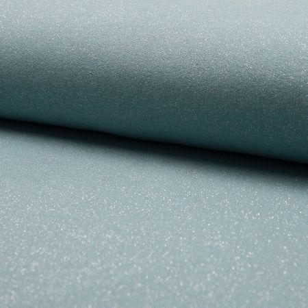 Tissu sweat pailleté - Vert menthe