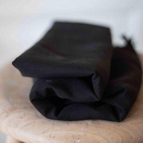 Tissu tencel et lin - Noir