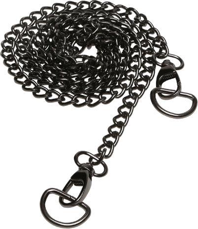 Chaine pour sac à main 120 cm avec anneaux en D - Noir