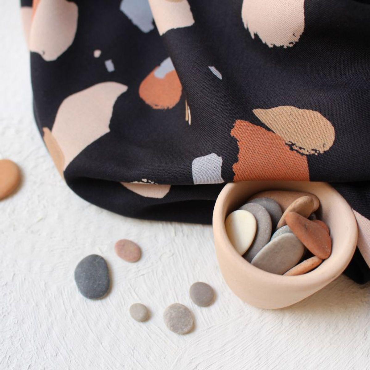 Tissu viscose Granito Night - Atelier Brunette