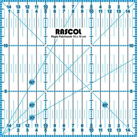 Règle patchwork Rascol 15 x 15 cm