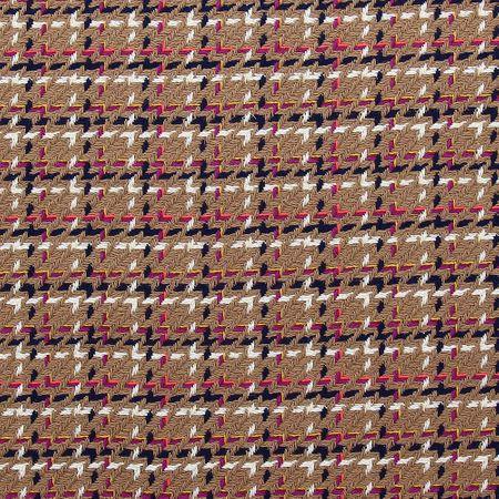 Tissu tweed - Camel avec fil fluo