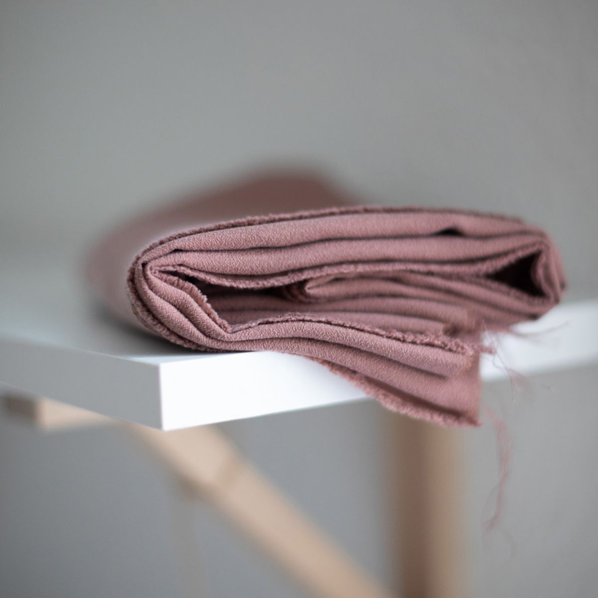 Tissu tencel crêpe - Rose antique